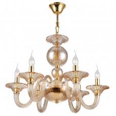Подвесная люстра Crystal Lux DREAM SP6 золотой/янтарный
