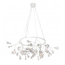 Подвесная светодиодная люстра Crystal Lux 45W 3000K EVITA SP45 D WHITE/TRANSPARENT Белый