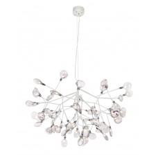 Подвесная светодиодная люстра Crystal Lux 63W 3000K EVITA SP63 WHITE/TRANSPARENT Белый