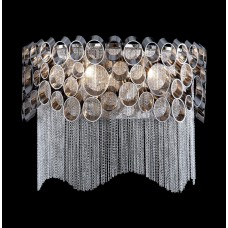 Хрустальное бра Crystal Lux HAUBERK AP2 никель