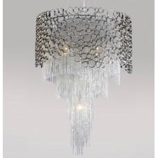 Хрустальная люстра Crystal Lux HAUBERK SP-PL8 D60 никель