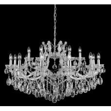 Подвесная люстра с хрусталем Crystal Lux HOLLYWOOD SP12+6 CHROME Хром/Прозрачный