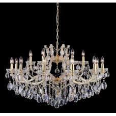 Подвесная люстра с хрусталем Crystal Lux HOLLYWOOD SP12+6 GOLD Золотой/Прозрачный