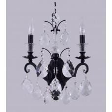 Бра Crystal Lux MAGNIFICO AP2 BLACK/TRANSPARENT Черный
