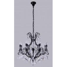 Подвесная люстра с хрусталем Crystal Lux MAGNIFICO SP13 BLACK/TRANSPARENT Черный