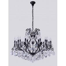 Подвесная люстра с хрусталем Crystal Lux MAGNIFICO SP19 BLACK/TRANSPARENT Черный