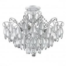 Потолочная люстра Crystal Lux SEVILIA PL4 SILVER белый, серебряная патина