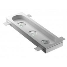 Врезной гипсовый светильник Декоратор VS-022 360*110 мм 3*GU5.3 MR16