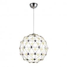 Подвесная светодиодная люстра Divinare 1610/02 SP-60 Cristallino хром 30 Вт