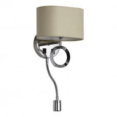 Бра с выключателем и лампой для чтения Divinare 4069/02 AP-2 хром