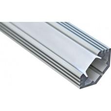 """Профиль для светодиодной ленты Feron CAB272 """"угловой с фаской"""" серебро 10270"""