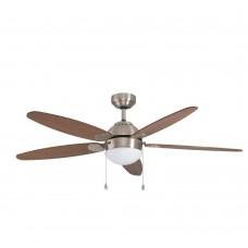35042 Потолочный вентилятор со светильником SUSALE, ?1320, сталь, никель мат/стекло, белый