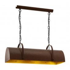 Люстра лофт Eglo Deerhurst 49702 коричневый E27 60 Вт