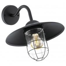Уличный настенный светильник Eglo Melgoa 94792 черный E27 60 Вт