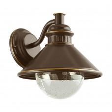 Уличный настенный светильник Eglo Albacete 96262 коричневый, медь E27 40 Вт