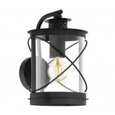 Уличный настенный светильник Eglo Hilburn 94843 черный E27 60 Вт