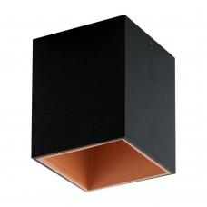 Потолочный светильник Eglo Polasso 100*100 мм 94496 черный, медь LED 3,3 Вт 3000K