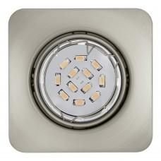 Встраиваемый светильник Eglo Peneto 94264 никель матовый GU10 5 Вт