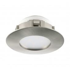 Встраиваемый светильник Eglo Pineda 95819 никель матовый LED 6 Вт 3000K