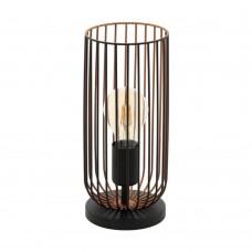 Настольная лампа Eglo Roccamena 49646 черный, медь E27 60 Вт