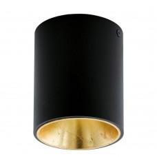 Потолочный светильник Eglo Polasso ф100 мм 94502 черный, золото LED 3,3 Вт 3000K