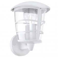 Уличный настенный светильник Eglo Aloria 93094 белый E27 60 Вт