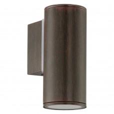 Уличный настенный светильник Eglo Riga 94104 коричневый состаренный GU10 3 Вт