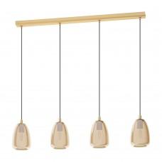 Подвесной светильник Eglo Alobrase 98649 латунь брашированный E27 40 Вт