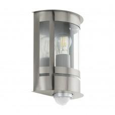 Уличный светильник с датчиком движения Eglo Tribano 97284 нержавеющая сталь E27 60 Вт