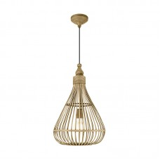 Подвесной светильник Eglo Amsfield 49772 коричневый E27 60 Вт