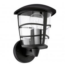 Уличный настенный светильник Eglo Aloria 93097 черный E27 60 Вт