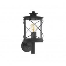 Уличный настенный светильник Eglo Hilburn 94842 черный E27 60 Вт