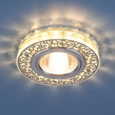Встраиваемый светильник Elektrostandard 6034 50+3W G5.3+Led подсветка, хром/прозрачный