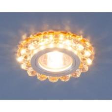 Встраиваемый светильник Elektrostandard 6036 50+3W G5.3+Led подсветка, золото, хром