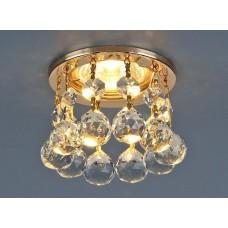 Встраиваемый светильник Elektrostandard 2051 50W G5.3 золото/прозрачный