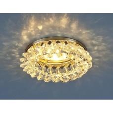 Встраиваемый светильник Elektrostandard 206 50W G5.3 золото/прозрачный