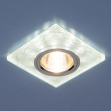Встраиваемый светильник с LED подсветкой Elektrostandard 8361 50+3W G5.3+Led подсветка, белый, серебро
