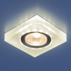 Встраиваемый светильник с LED подсветкой Elektrostandard 6063 50+3W G5.3+Led подсветка, белый