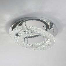 Хрустальная светодиодная люстра с пультом Eurosvet 90066/2 хром 24W Grasia 3000-7000K