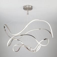 Светодиодный подвесной светильник Eurosvet 90109/3 сатин-никель 150W Filmy