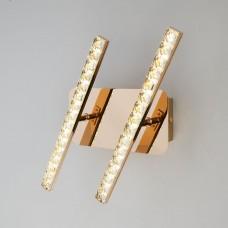 Светодиодный настенный светильник с хрусталем Eurosvet 90041/2 золото 8W Soprano