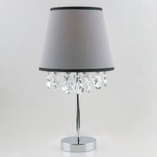 Настольная лампа с хрусталем Eurosvet 01036/1 хром/прозрачный хрусталь Strotskis Opera