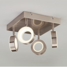 Светодиодный потолочный светильник с поворотными плафонами Eurosvet 20065/4 сатин-никель 24W Frisco