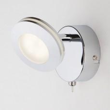 Светодиодный настенный светильник с поворотными плафонами Eurosvet 20002/1 хром 5W Rоund