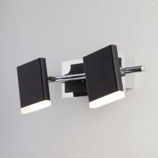 Светодиодный настенный светильник с поворотными плафонами Eurosvet 20000/2 черный 10W Collin