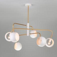 Подвесной светильник в стиле лофт Eurosvet 70055/6 белый Luca