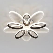 Светодиодный потолочный светильник с пультом управления Eurosvet 90137/10 белый/чёрный 110W Blade