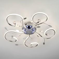 Светодиодная люстра с пультом Eurosvet 90129/5 хром 55W Curl 4200К