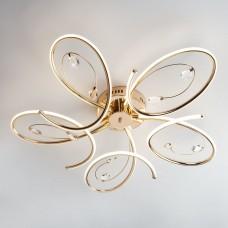 Светодиодный потолочный светильник Eurosvet 90099/5 золото 90W Saona