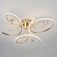 Светодиодный потолочный светильник Eurosvet 90099/3 золото 54W Saona